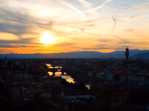 Florentian sunset from Piazzale Michelangelo.